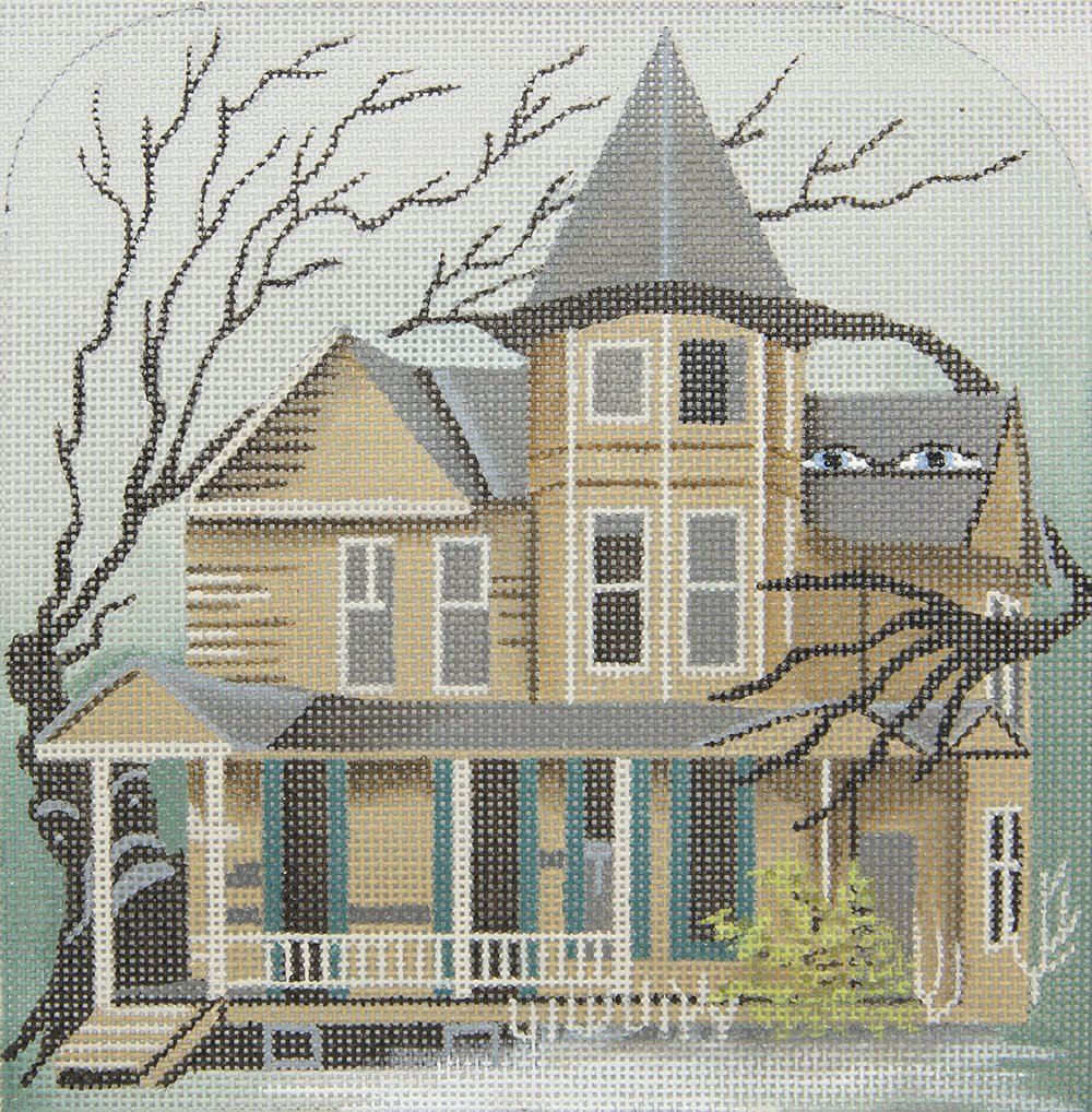 5215 Spooky House with Creepy Trees Leigh Designs