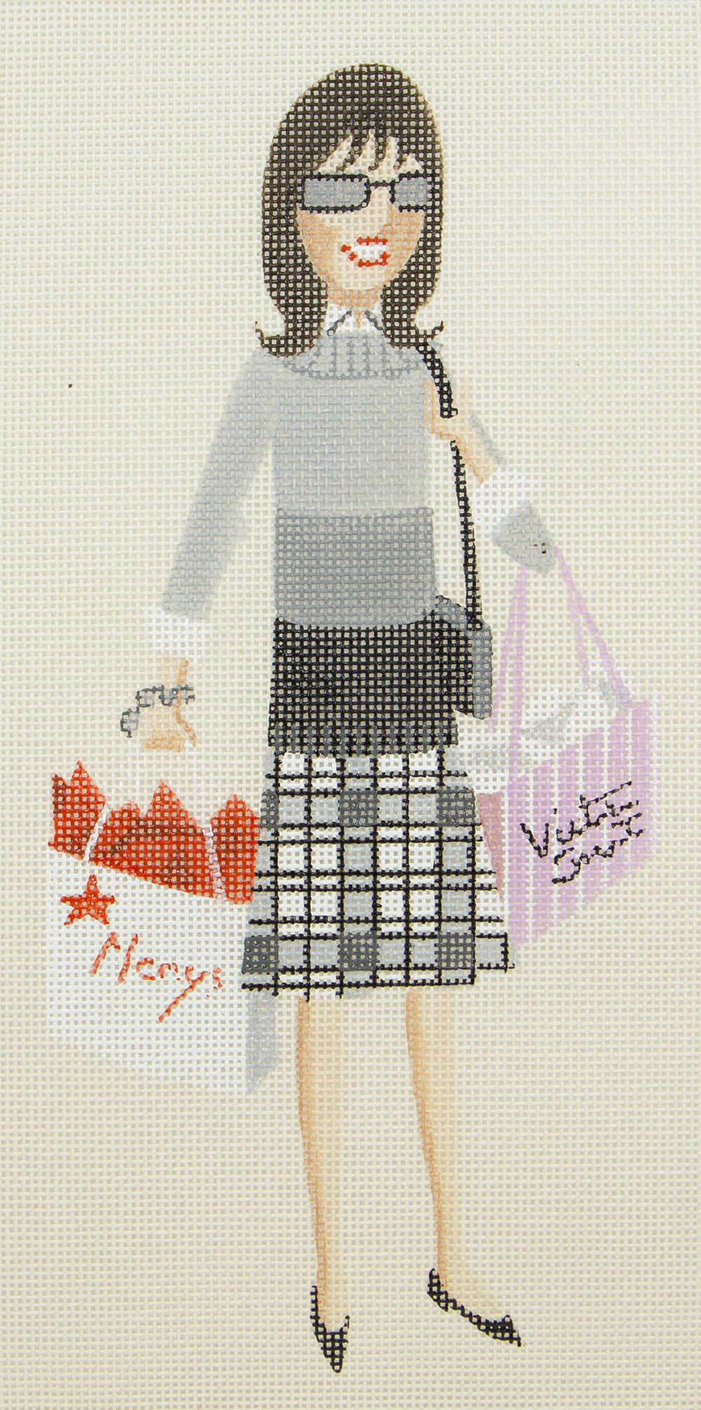 5061 Sally Shopping with Stitch Guide  Leigh Designs