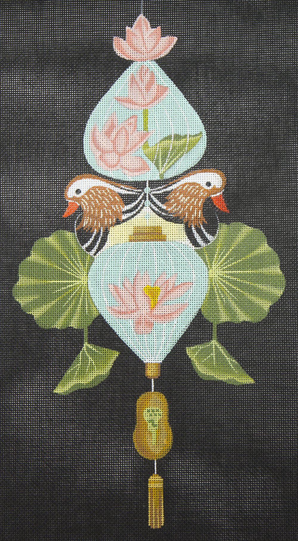 6339 Oriental Ducks and Flowers Leigh Designs
