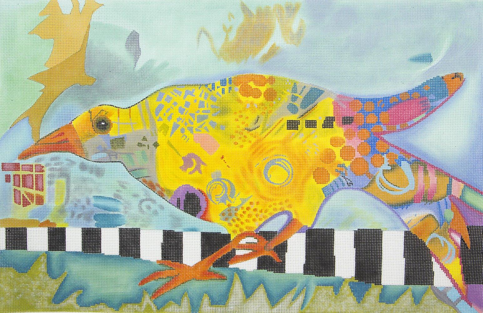 5634 Abstract Bird Patti Mann