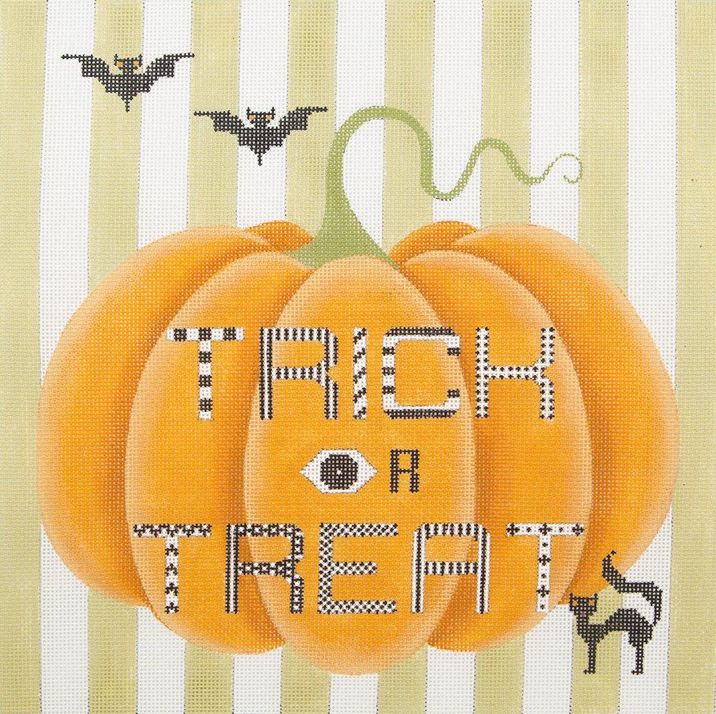 H9 Trick or Treat Pumpkin JP Needlepoint