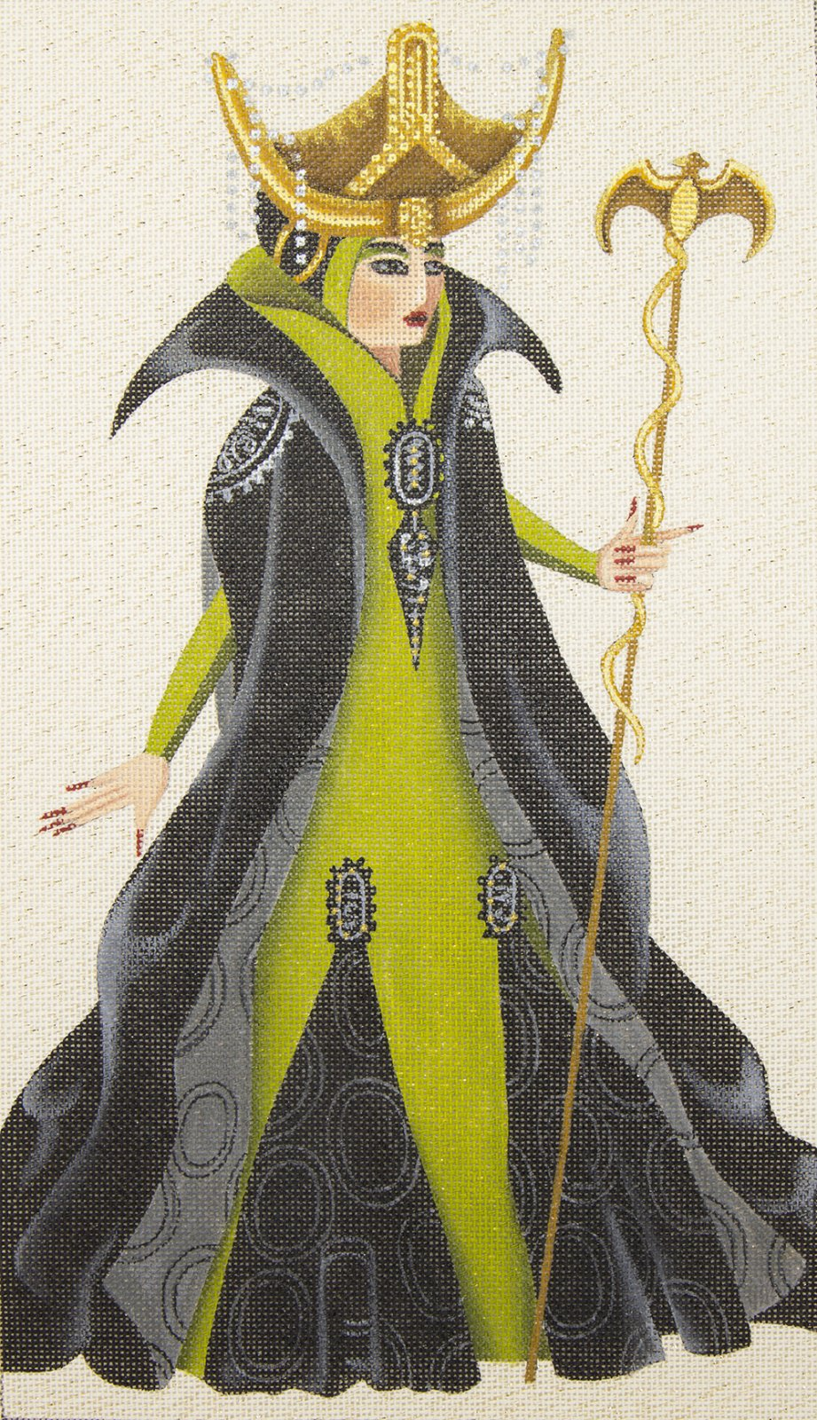 5233 Green and Black Witch Leigh Designs