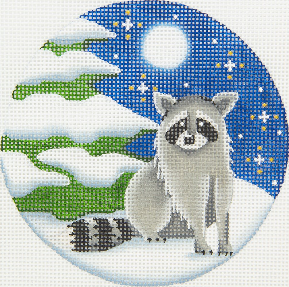 RW1047E Raccoon Ornament Rebecca Wood
