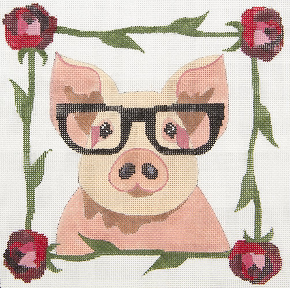 ZIA101 Pig with Glasses Danji Designs