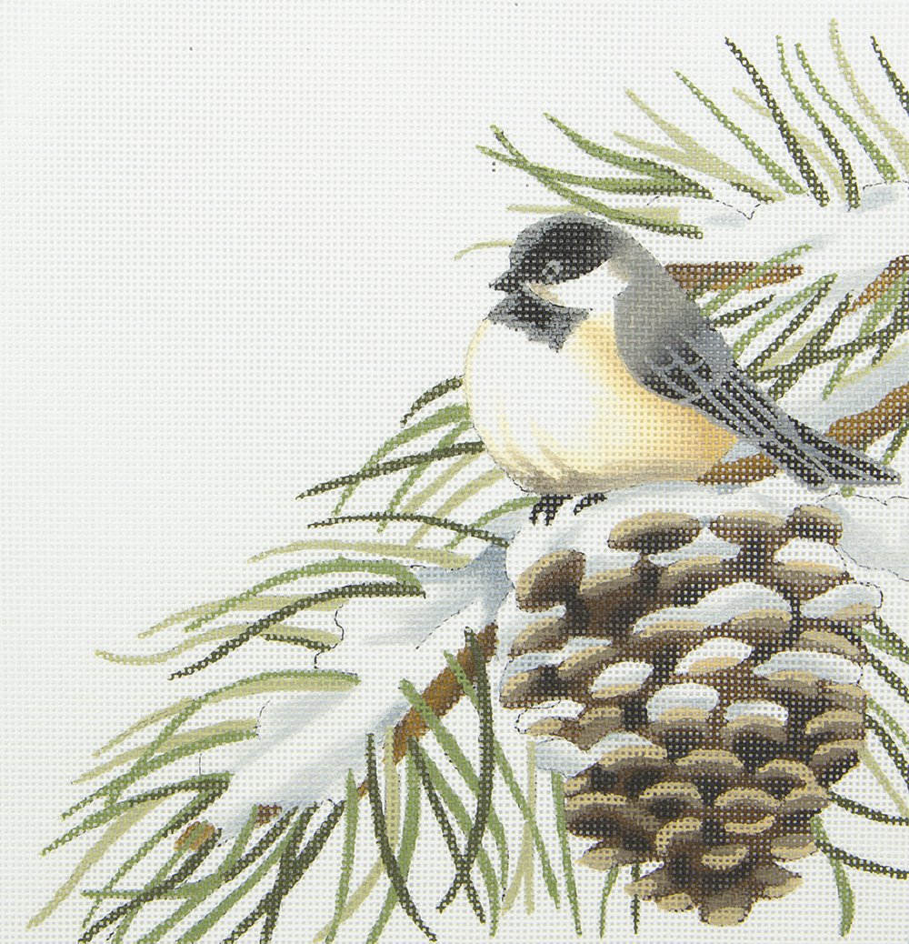 LGDSP410 Chickadee on Pinecone Susan Roberts
