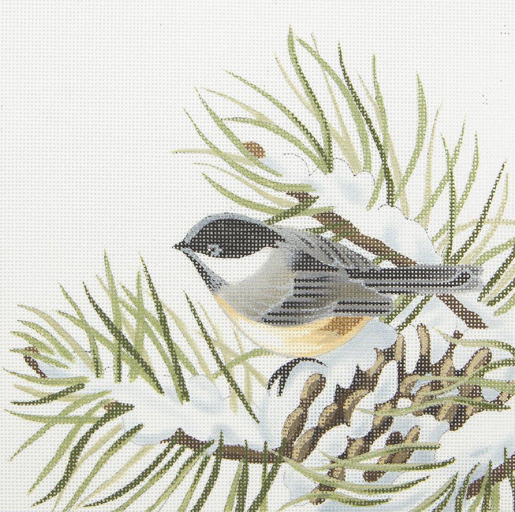 LGDSP409 Chickadee on Snowy Pinecone Susan Roberts