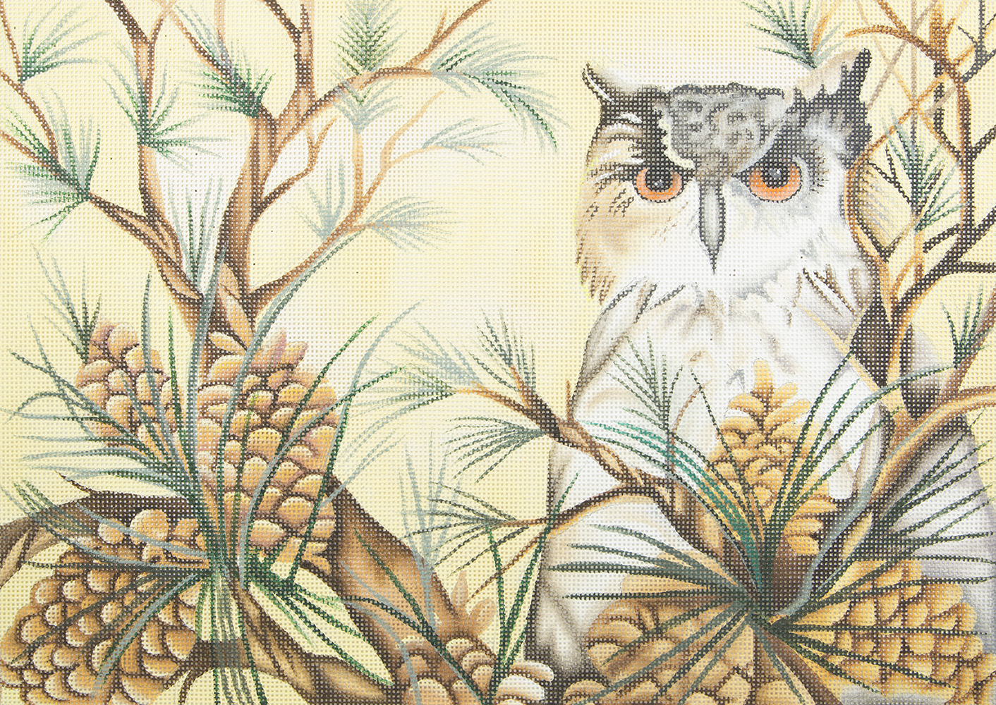 JG1005 Owl in Pine Tree Susan Roberts