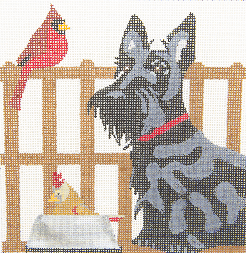 D09 Scottie with Bird Friends Melissa Prince Designs