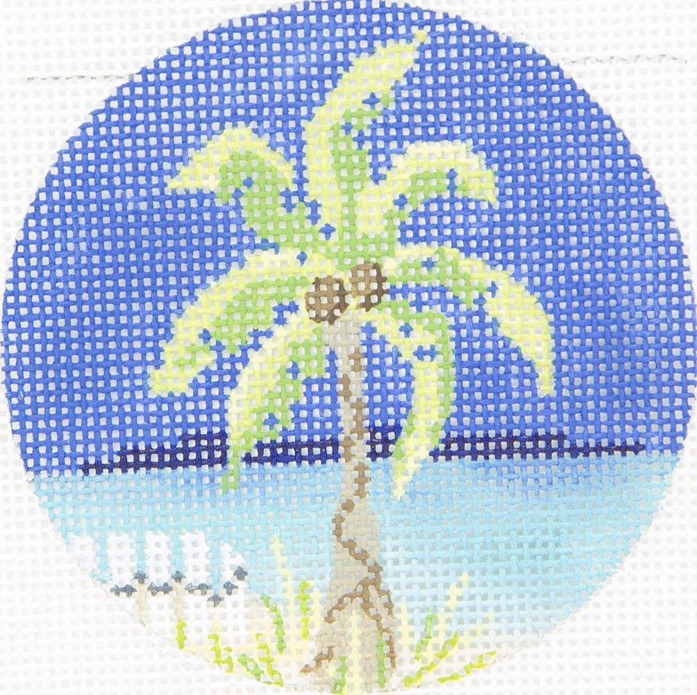 KCBJ08 Palm Tree Round Colonial Needle