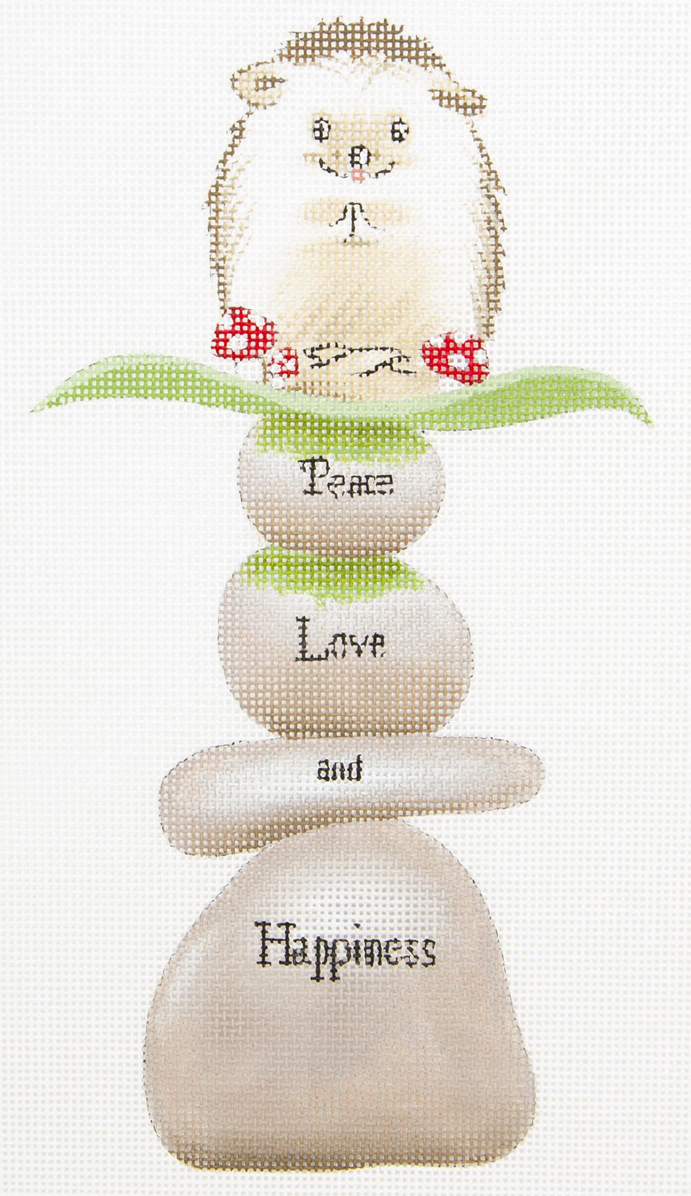 GA22 Hedgehog Peace Love Happiness Love You More