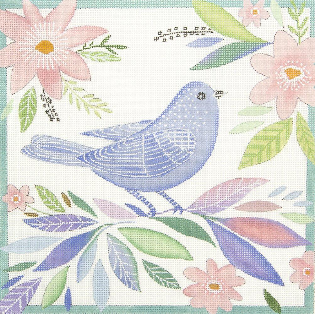 EV03 Blue Bird Pink Flowers Love You More