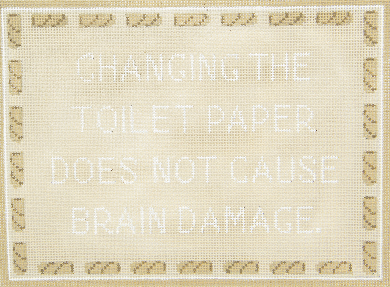 SS47 Changing the Toilet Paper ? CBK Needlepoint