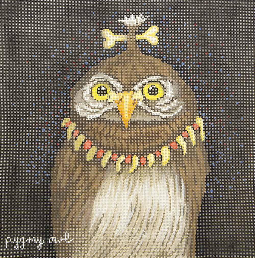 WBPL14 Pigmy Owl CBK Needlepoint