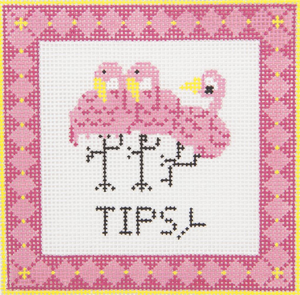 CSTRB002 Tipsy Flamingos Griffin Designs