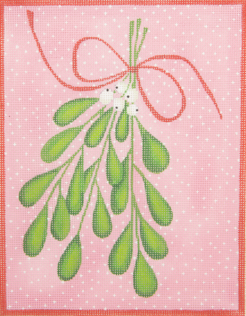 KMPL02 Mistletoe Pink and Green Kate Dickerson