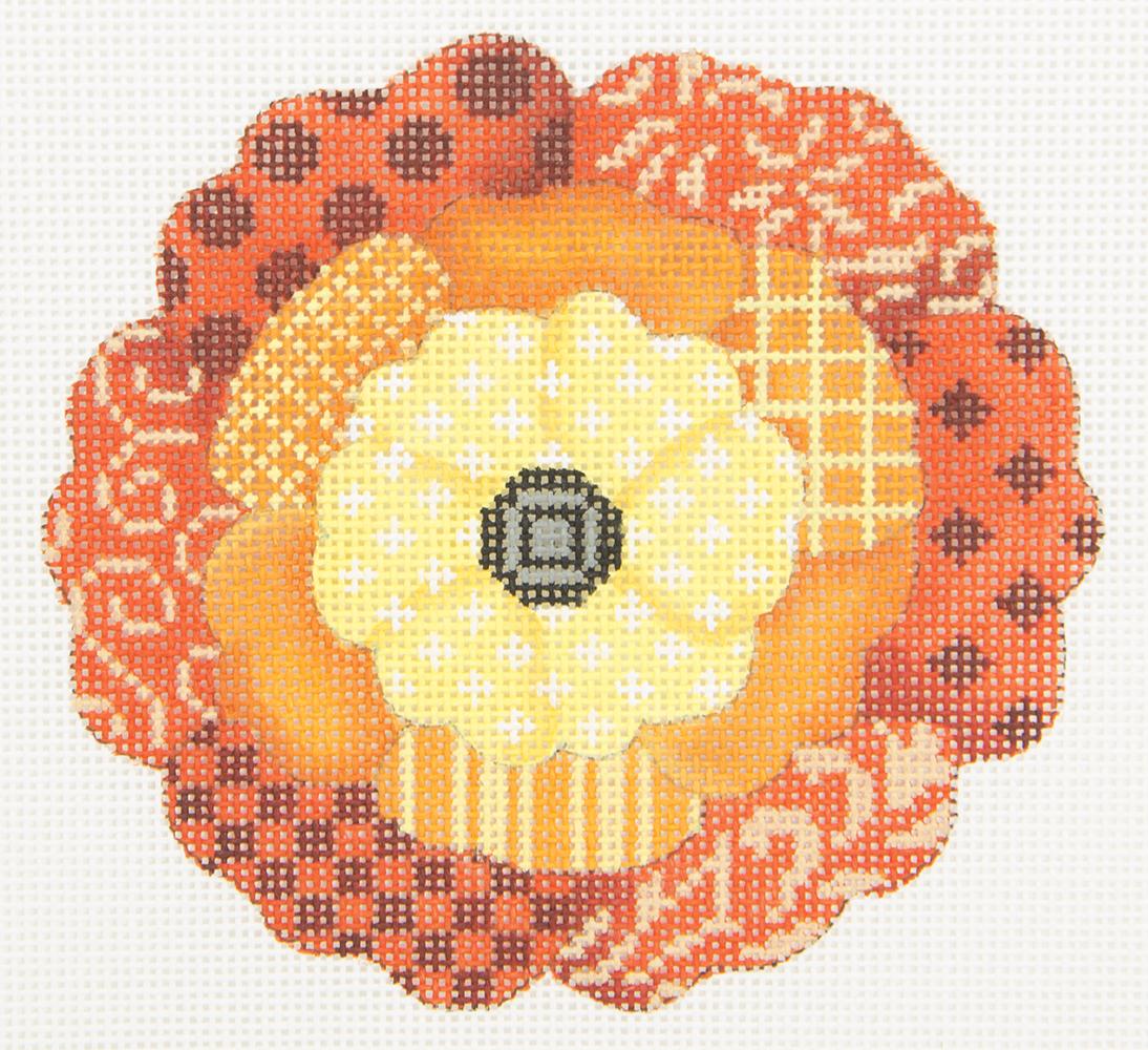 JPV153 Flower of Orange Patterns JP Needlepoint