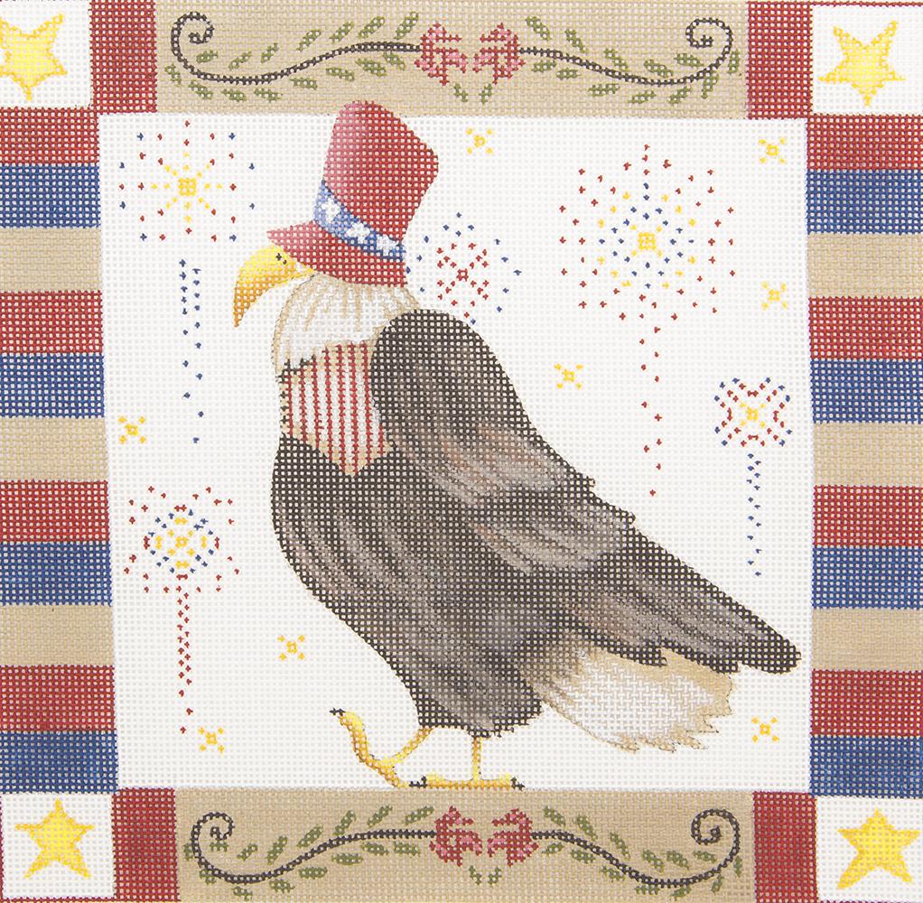 ADSP110 Americana Eagle Susan Roberts Needlepoint