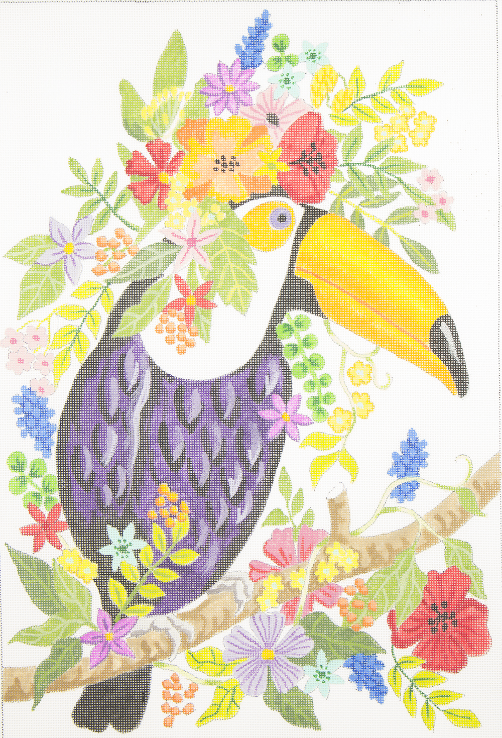 FT300 Toucan Tropical Flowers Judi & Co