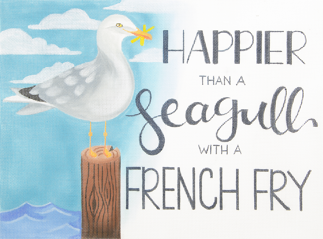 ME17 Happier Than a Seagull..... Oasis Needlepoint
