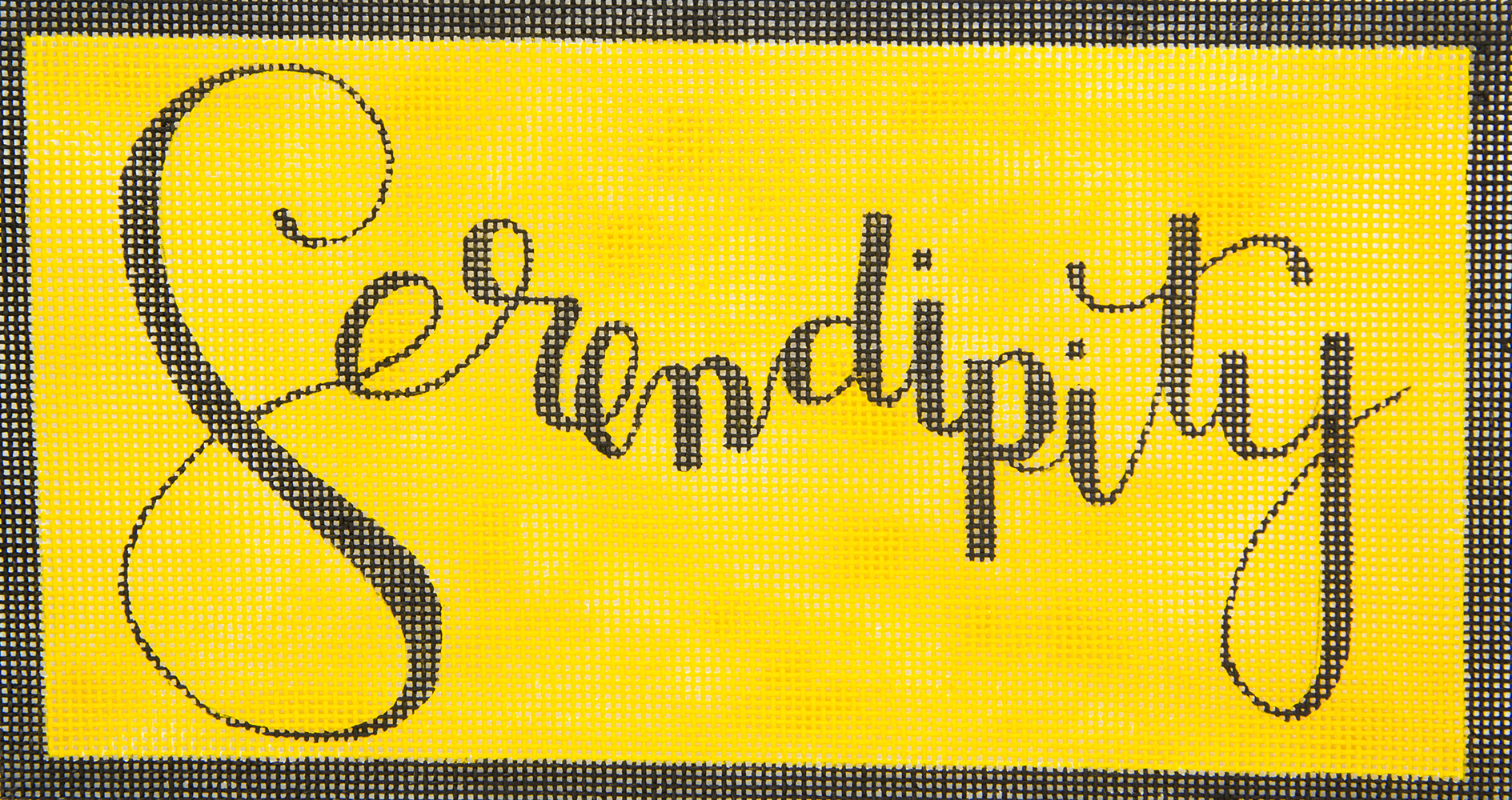 Serendipity on Yellow Oasis Needlepoint