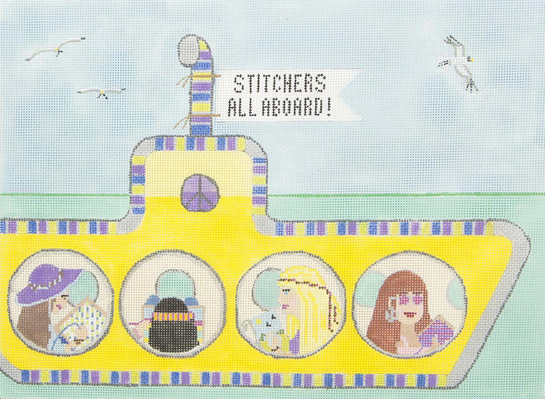 1968 Stitchers All Aboard Purple Palm Designs