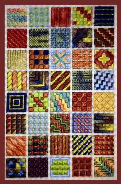 Inchies Charted Needlepoint Design