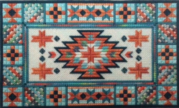Turquoise Trail Charted Needlepoint Needle Delights