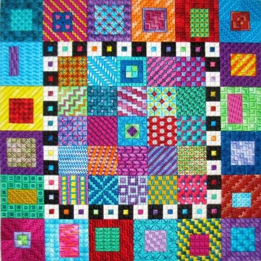 Brilliant Color Charted Needlepoint Needle Delilghts