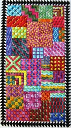 Carnival Charted Needlepoint Design