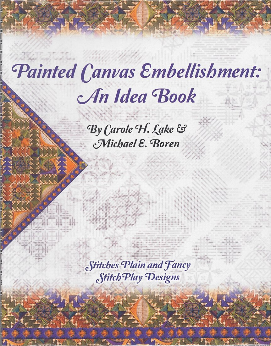 Painted Canvas Embellishment Book
