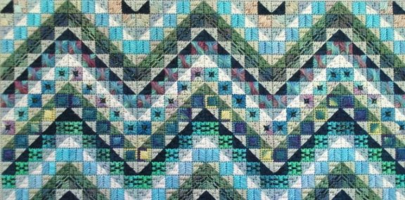 Tropic Seas Charted Needlepoint Design