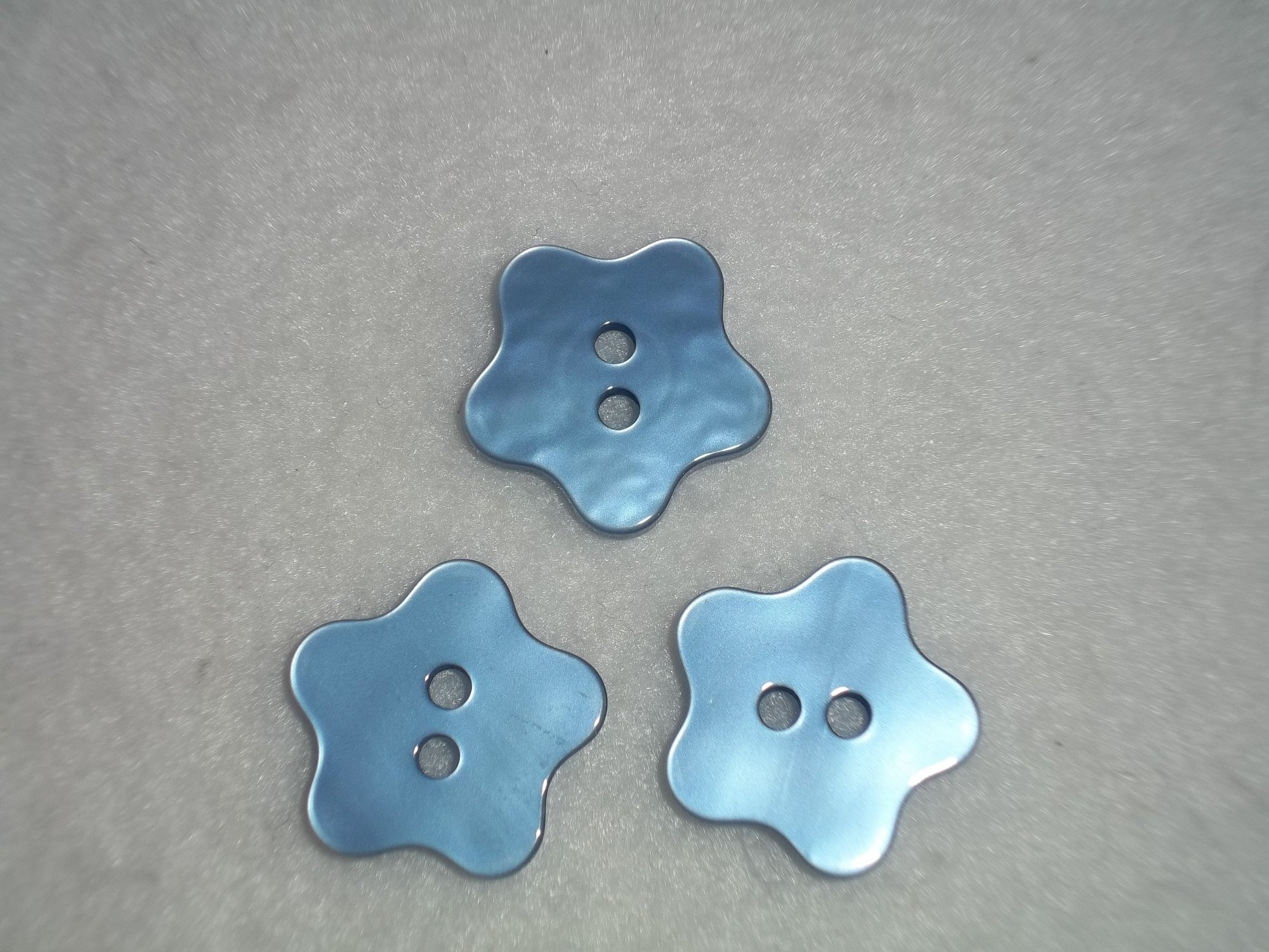 Blue Star Buttons - 23 mm