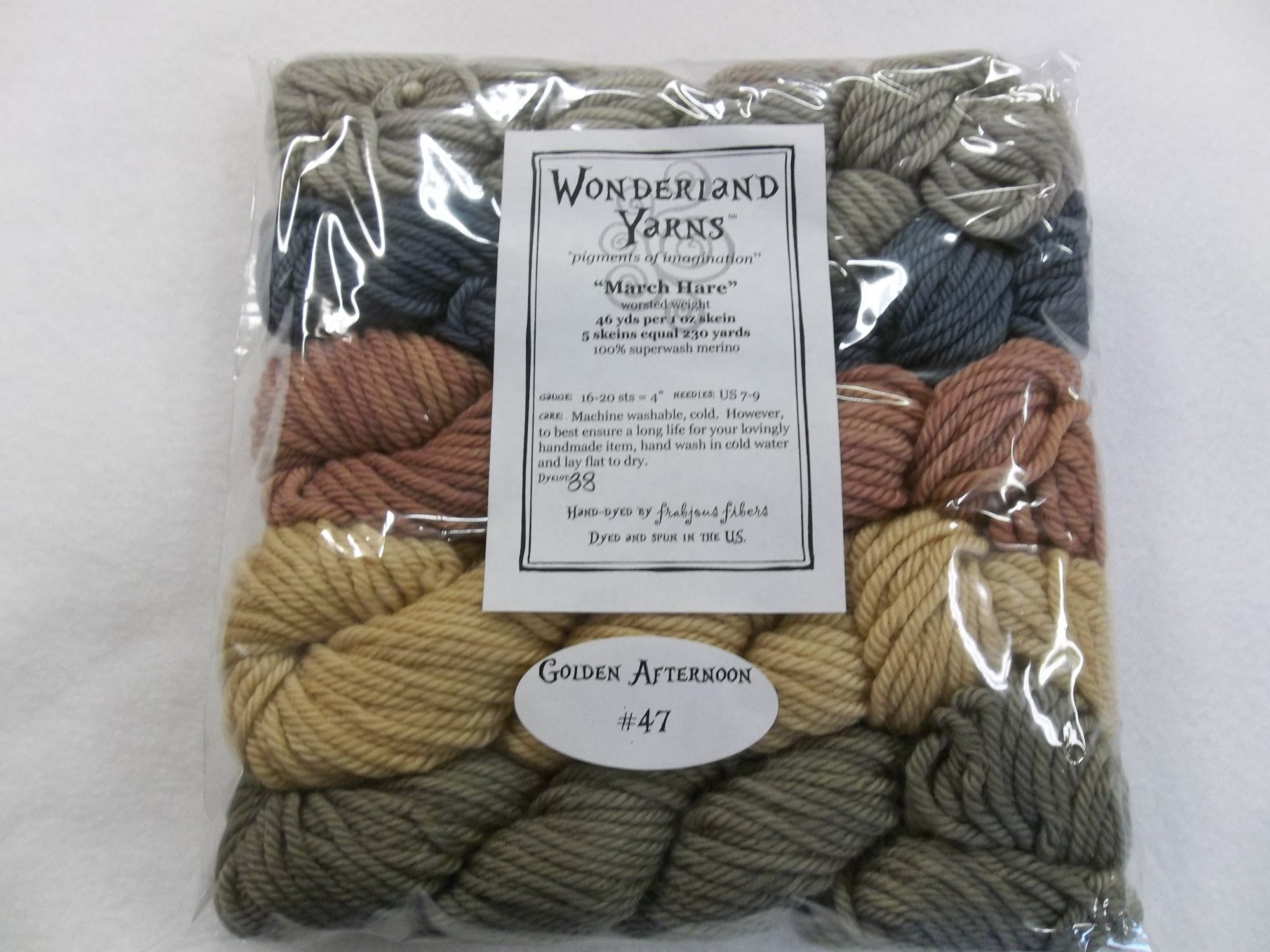 March Hare  - Golden Afternoon -  #47 - worsted selection