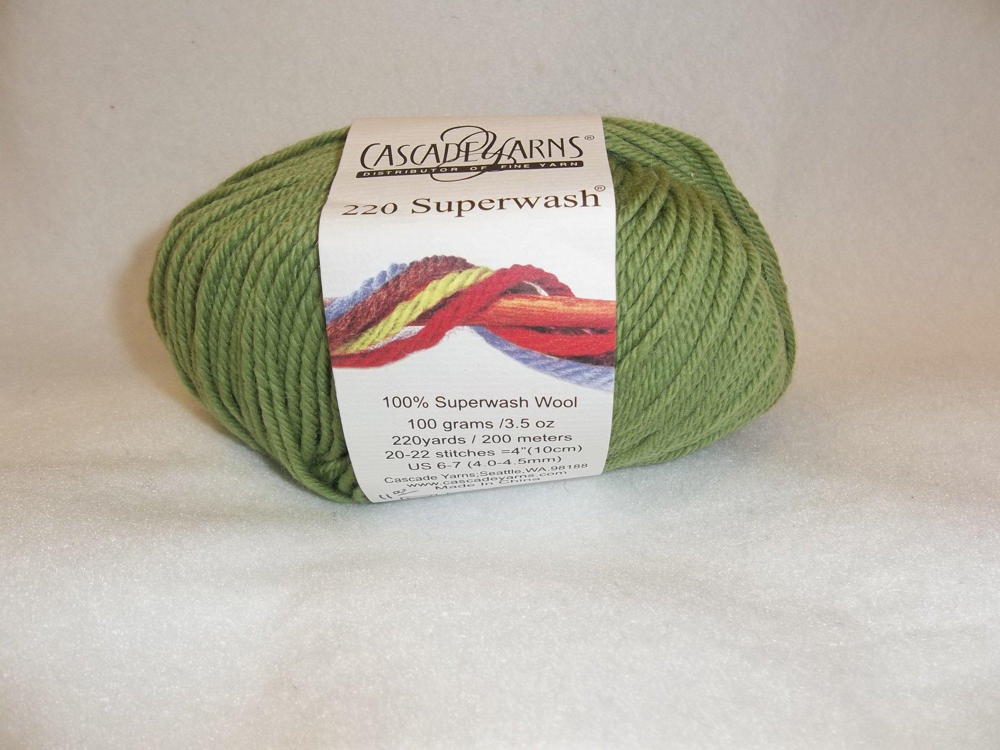 Cascade 220 Superwash - Color 841 lime green