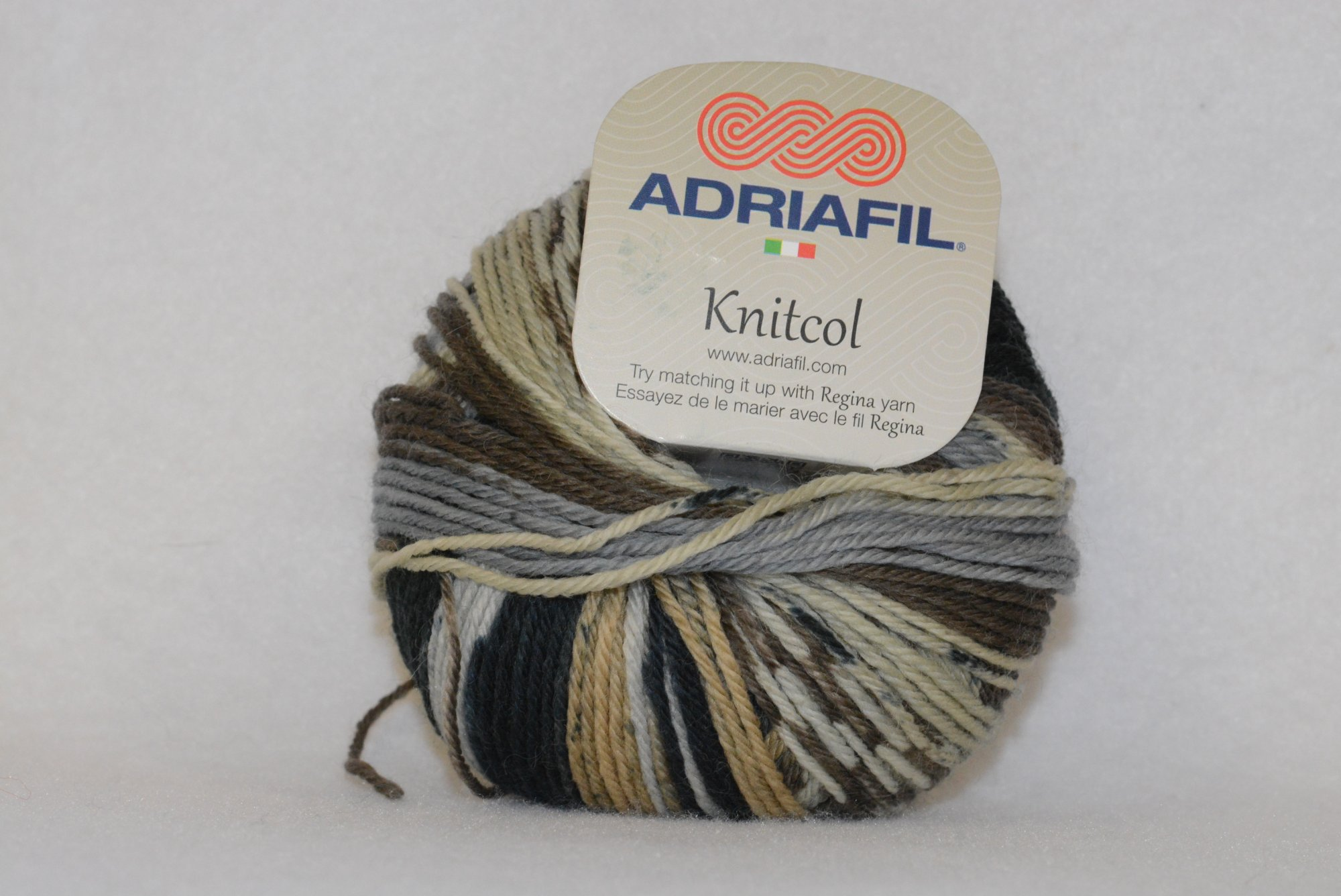 Knit Col - Color 57 - Grey/brown/beige