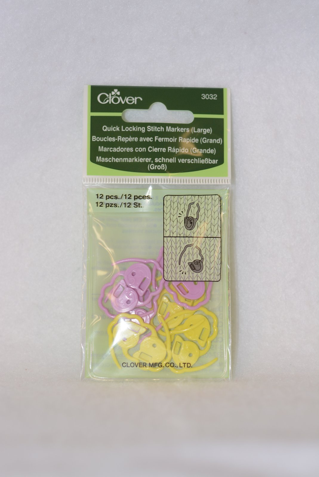 Quick Locking Stitch Markers (Lg.) by Clover - 3032