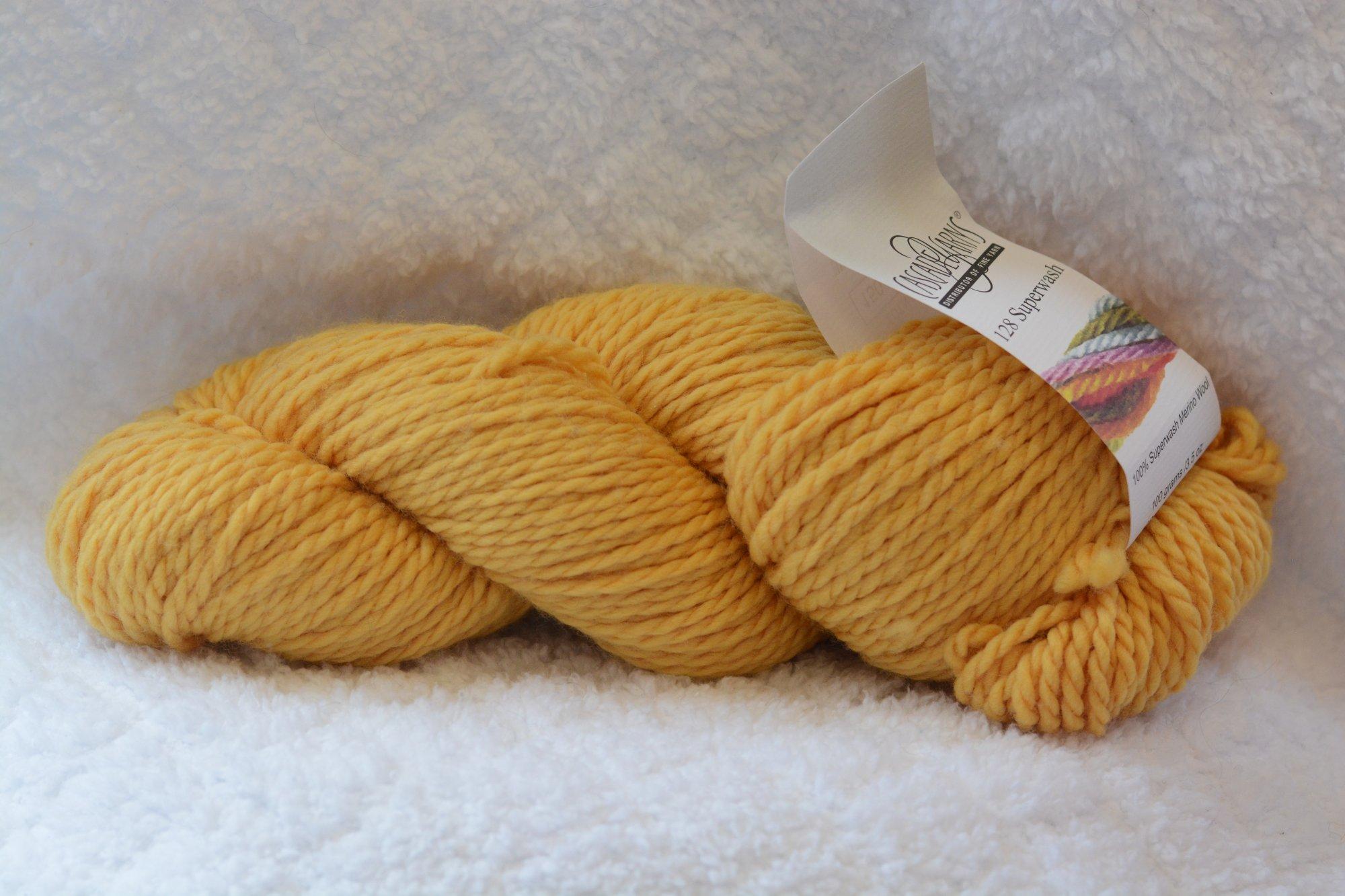 Cascade 128 Superwash - 821 - Golden Yellow