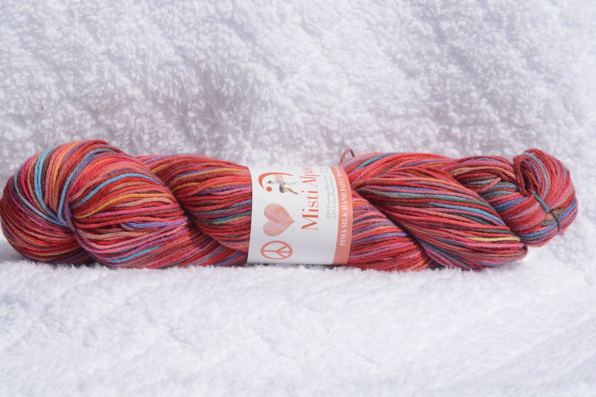 Pima Silk Hand Paint - Color CSP31- Reds