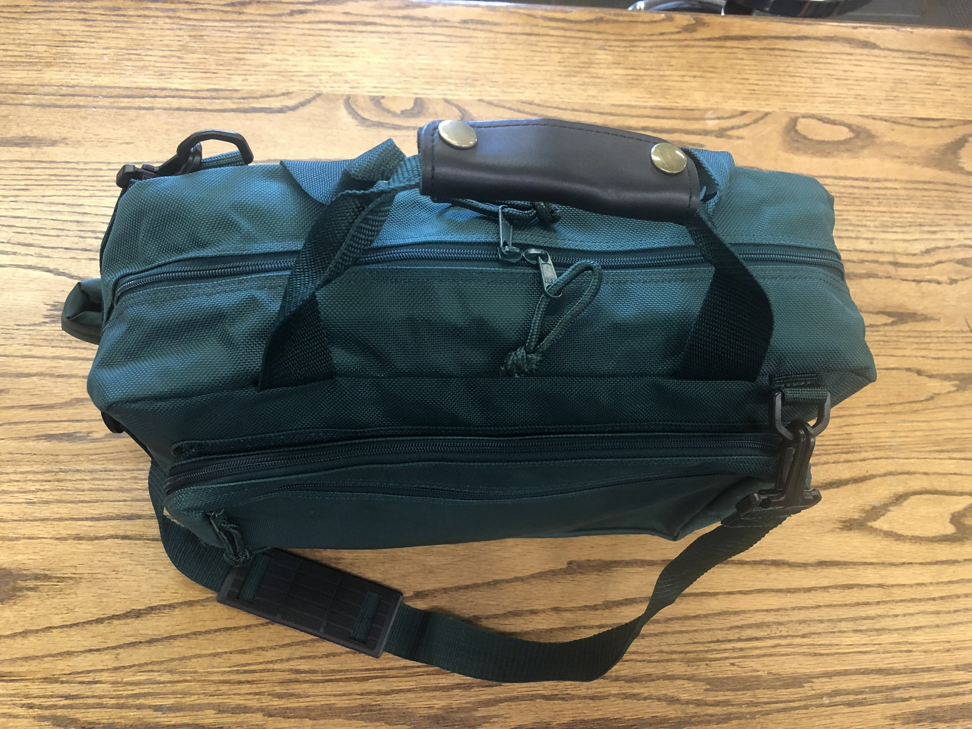 Convertible Green Backpack/Personal Case MCBP50GR -15.5 X 11.5 X 4.75