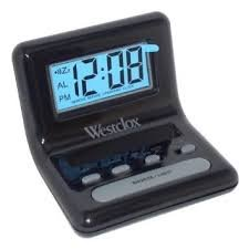 LCD Alarm Clock uses AAA batteries