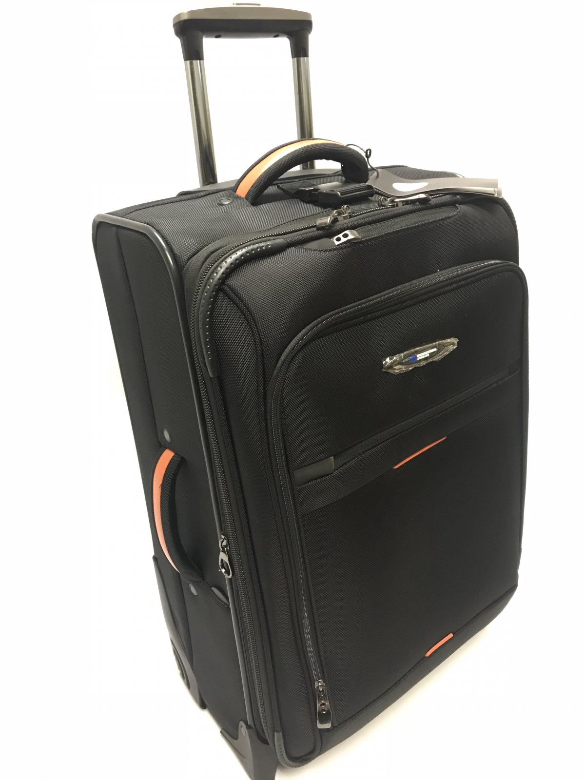 Black- Carry-on Expandable, Everest Collection with Ballistic Polyester -by International Luggage