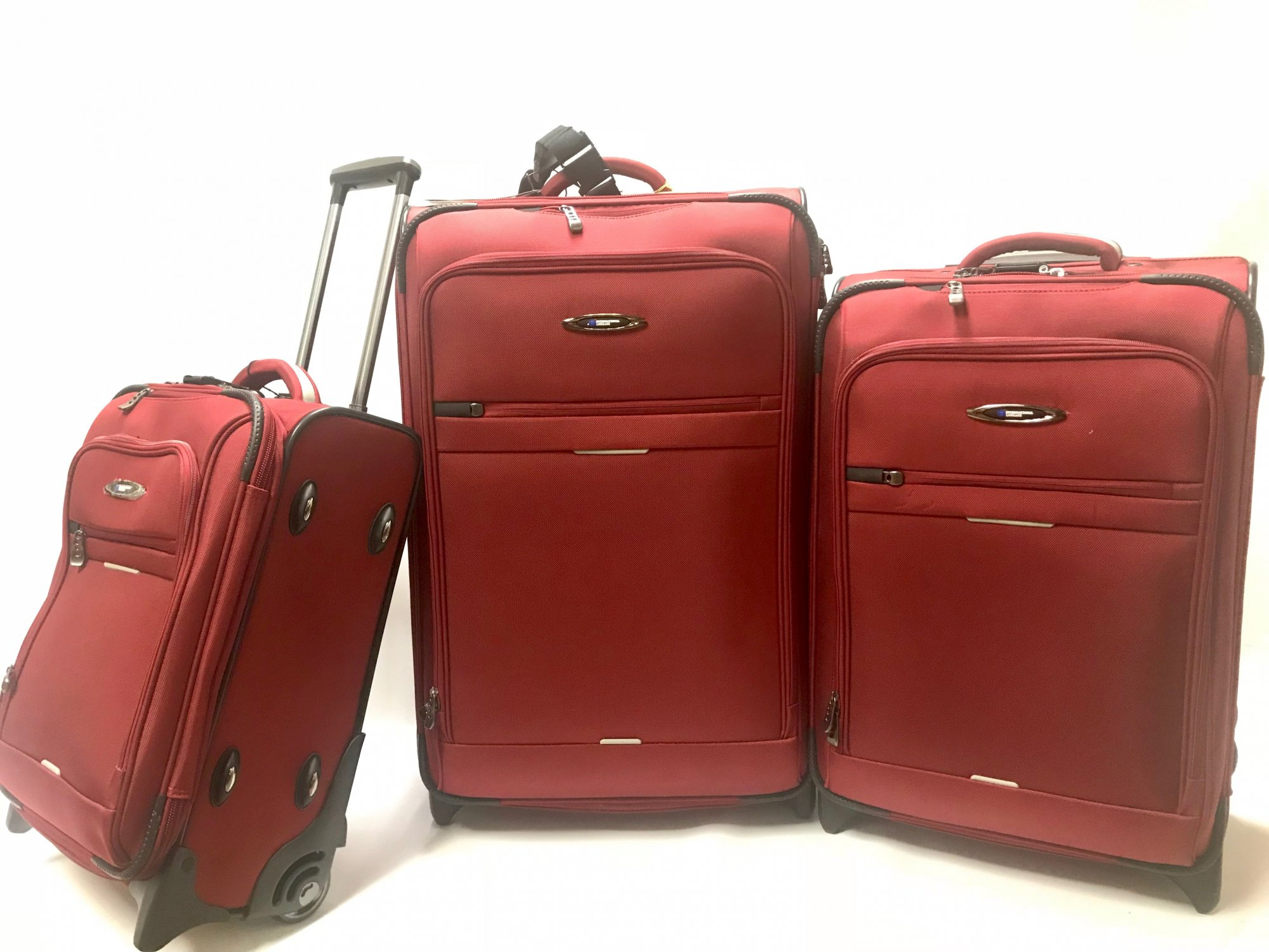 3 Piece Set Red Everest Collection Ballistic Polyester (international travel dimensions) by International Luggage