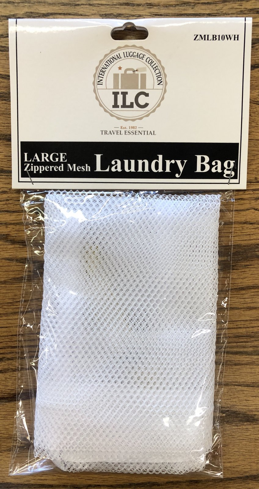 Large zippered mesh Laundry bag ZLB10BK by ILC