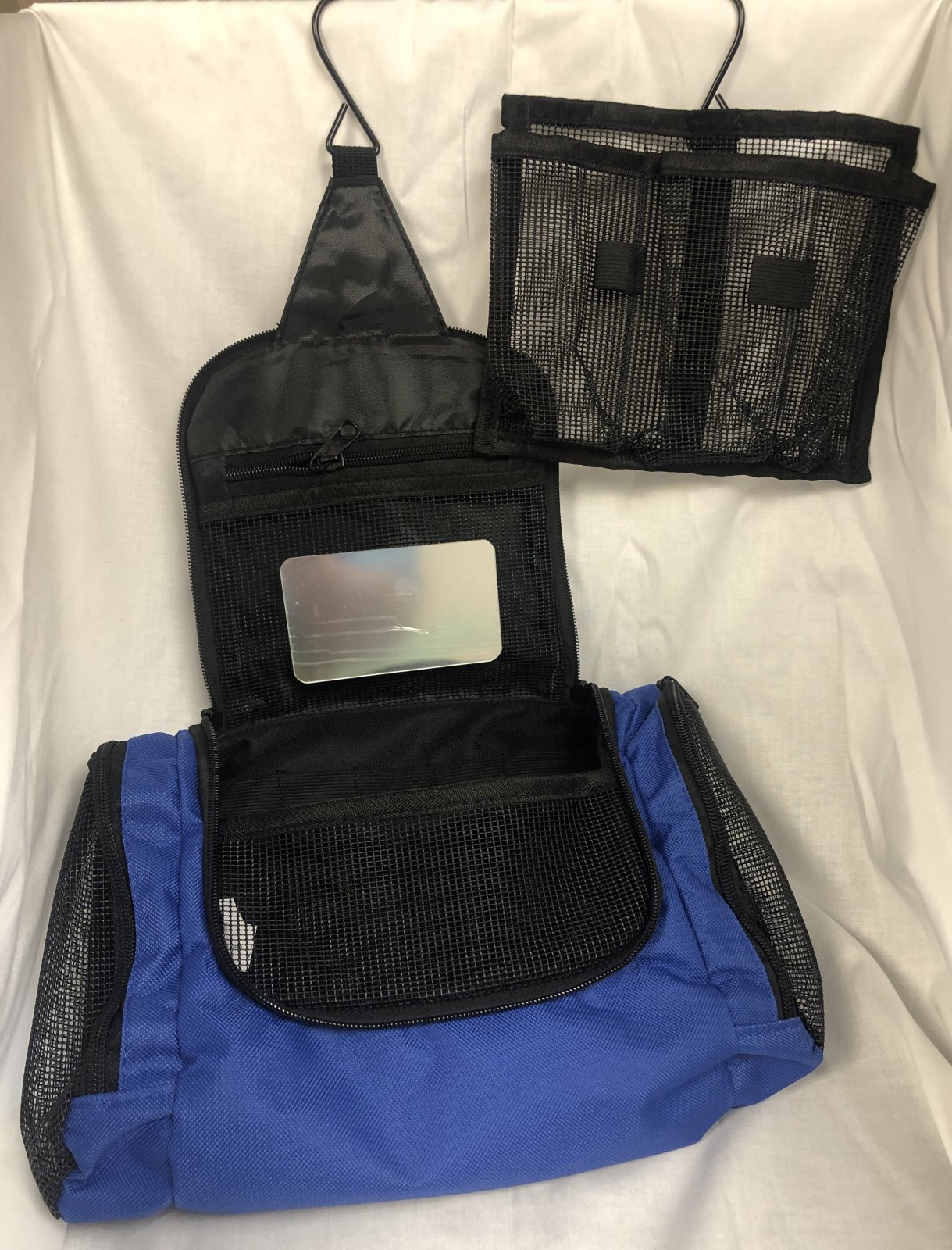 Toiletry Case 10 Hanging  Bi-Fold Blue TB10BL