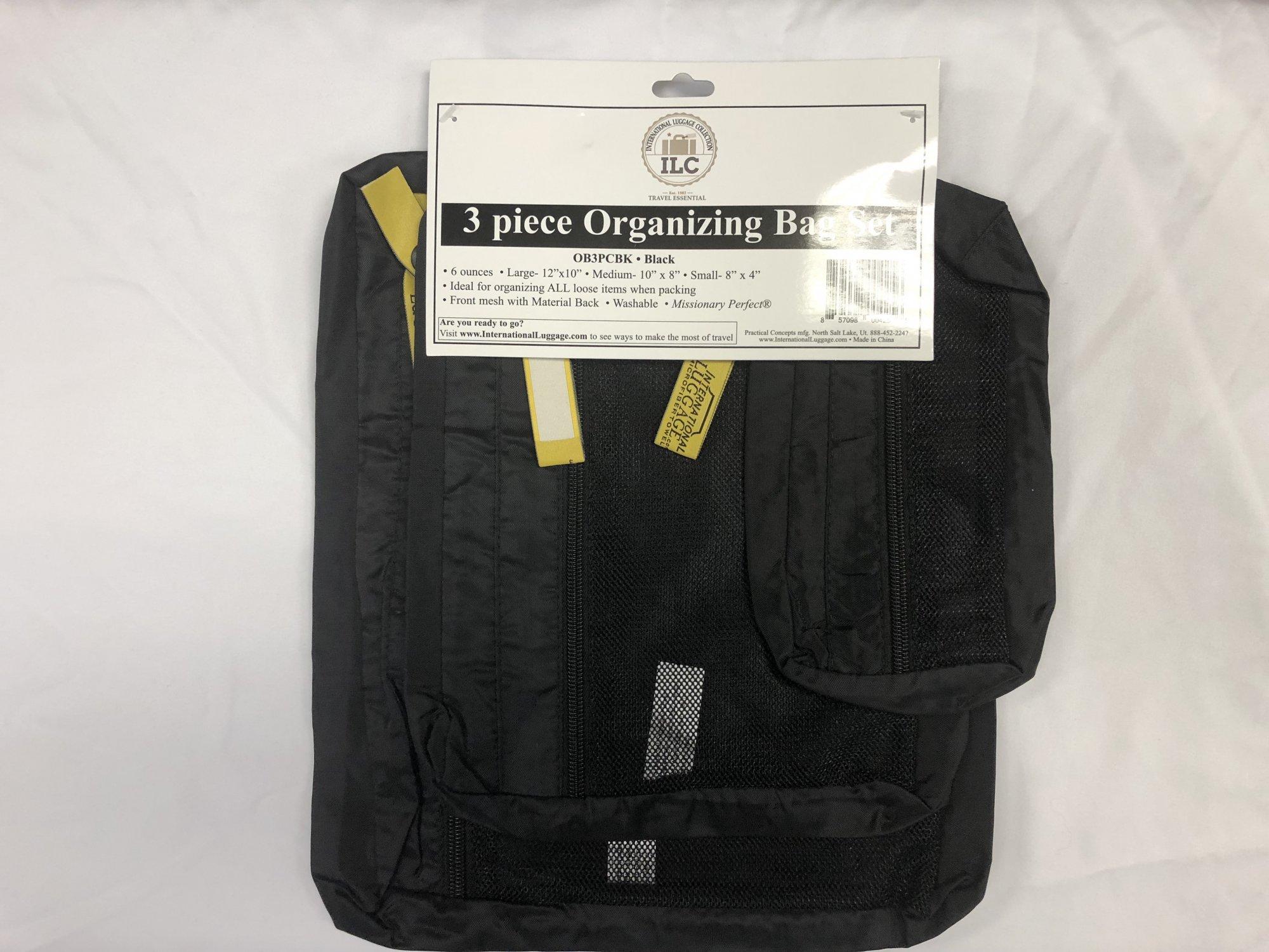 Organizer Bags (3 piece set) Black