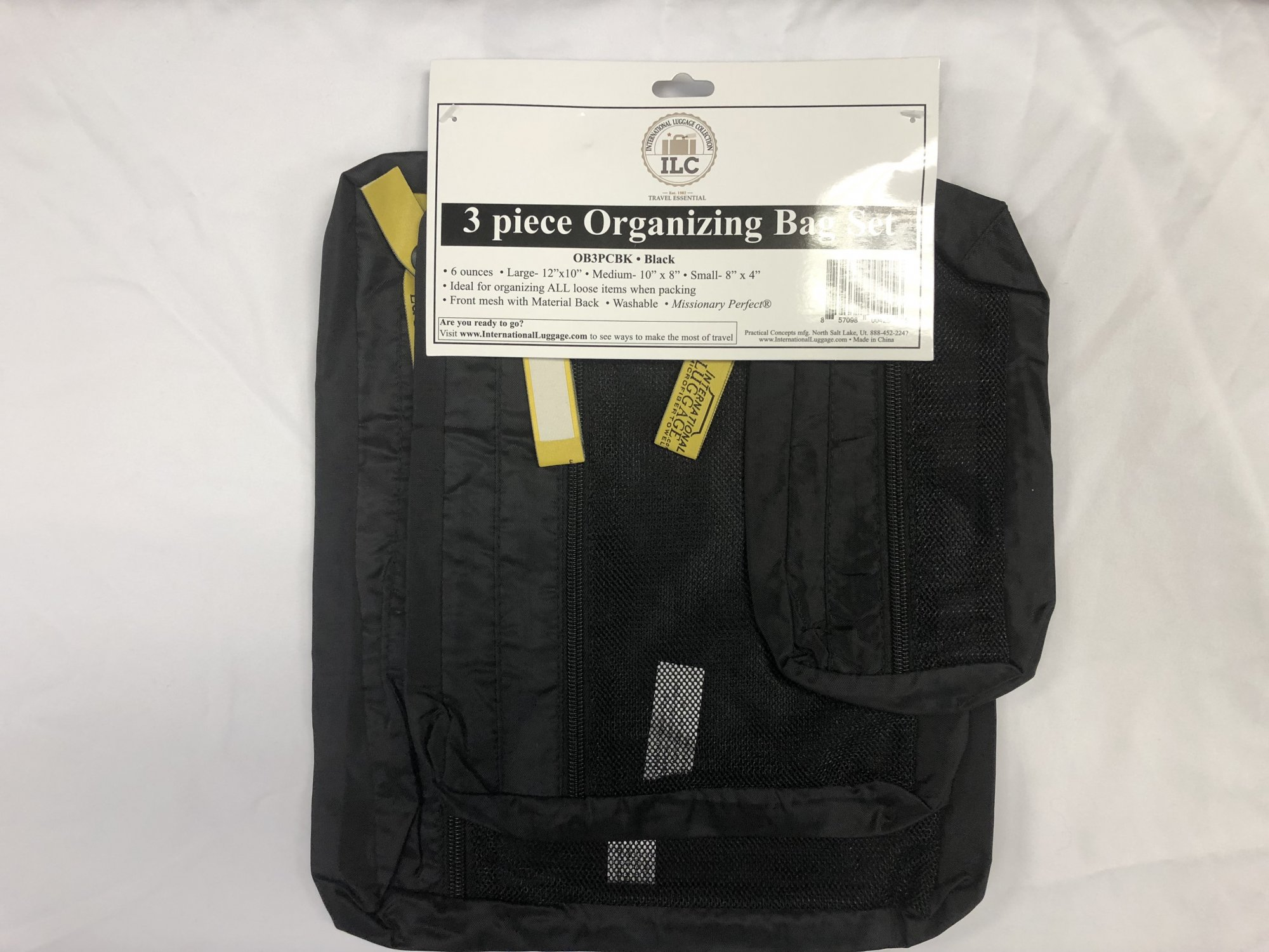 Organizer Bags (3 piece set) Black