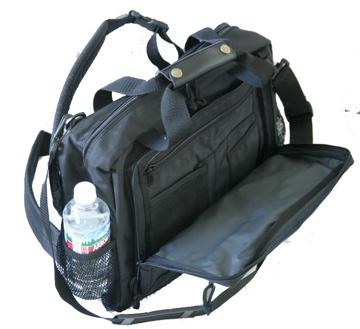 Classic Missionary Shoulder Bag (Reinforced Water Bottle Pocket) Practical Concepts  MCM80BK-16