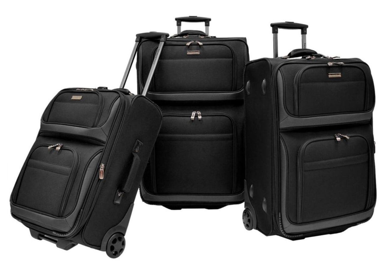 Rocky Mountain Series 3 pc Set Black (domestic travel dimensions)