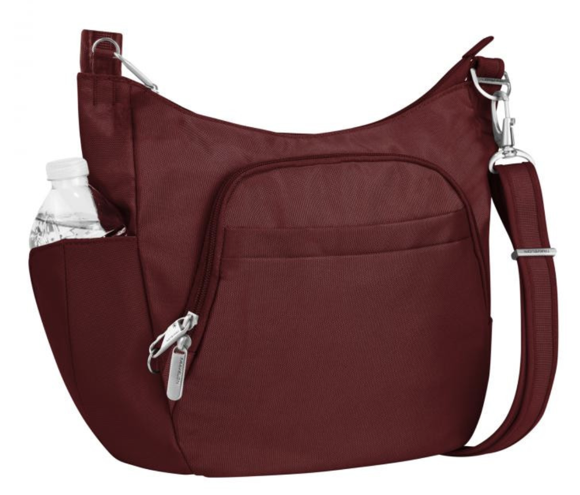 Travelon Anti-theft Classic Crossbody Bucket Bag 42757