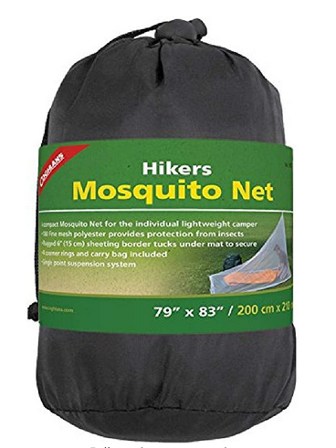Hikers light weight Mosquito Net (pre-treated with permitherin) by Coghlan's